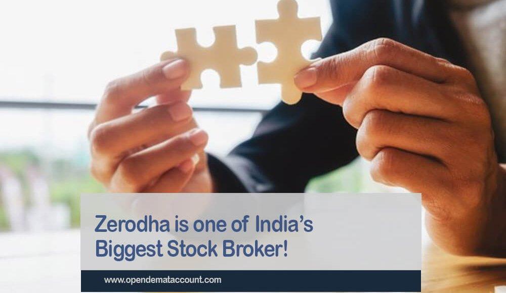 Zerodha is one of India's Biggest Stock Broker